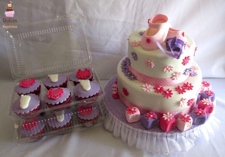 Torta Baby Shower #TortaBabyShower  #TortasBabyShower #DulcesKaprichos #TortasDecoradas