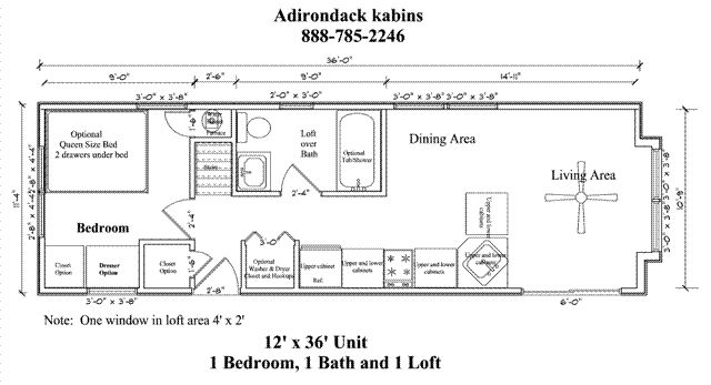 Two Bedroom Cabin Plans 12 X 32