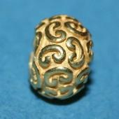 Gold Polish Round Large Hole Beads