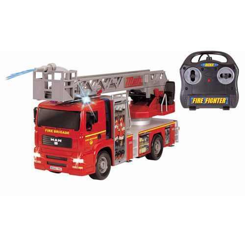 Boys Toys Fire Engine Truck Remote Control Water Cannon Extendable Ladder | eBay