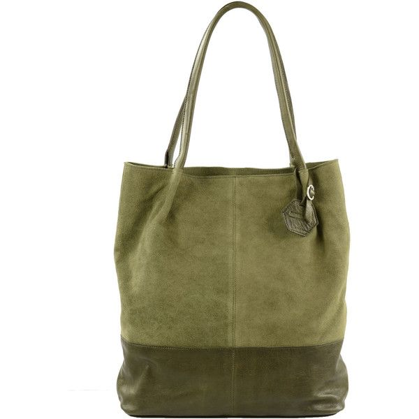 Suede groene shopper ($110) ❤ liked on Polyvore featuring bags, handbags, tote bags, green tote bag, suede tote bags, shopper tote, suede leather handbags and suede shopper bag