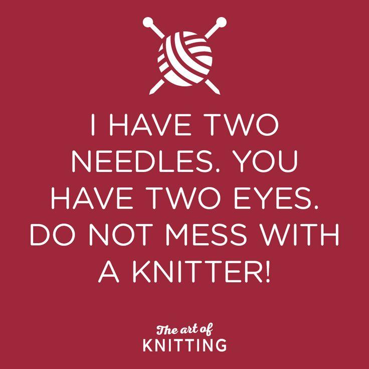 Watch out! #knit #knitting #artofknitting