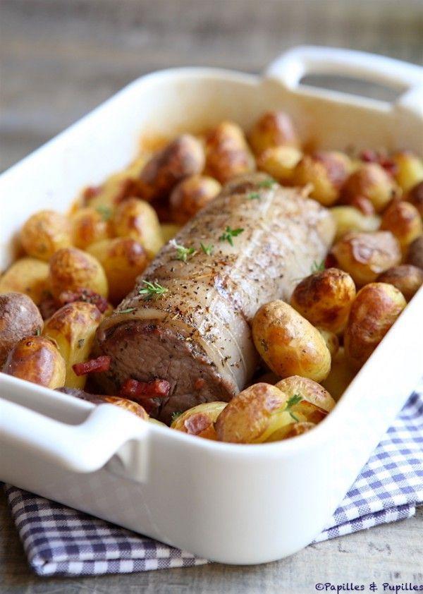 Filet mignon de veau et pommes de terre grenaille