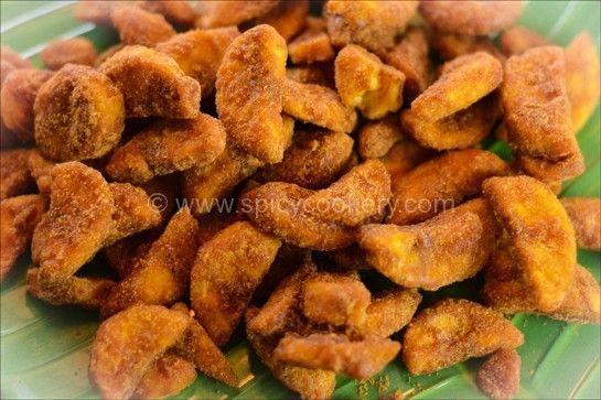 Sharkara Varatti / Upperi | http://spicycookery.com/sarkara-varatti-sarkara-upperi-jaggery-onam-sadhya-recipe