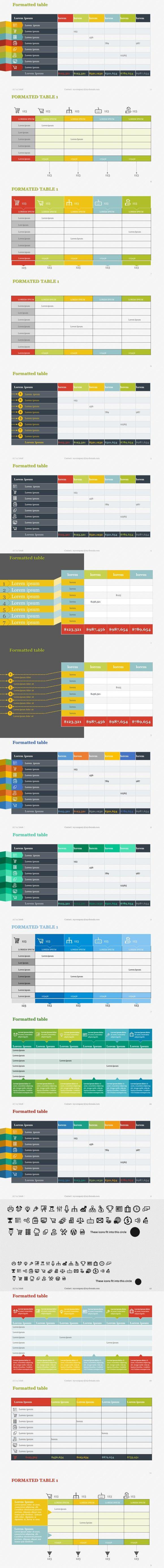 Poster design templates powerpoint - Creative Tables Pack 1 Powerpoint Powerpoint Posterposter Templatespresentation Templatesinfographics