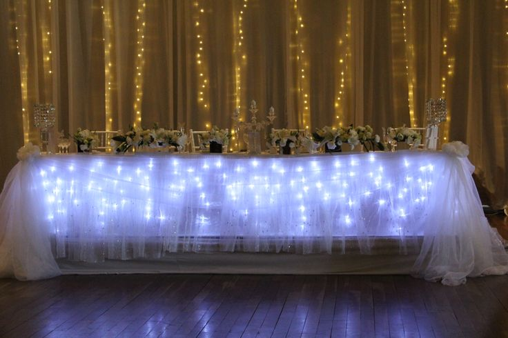 Main table draping and back drop draping