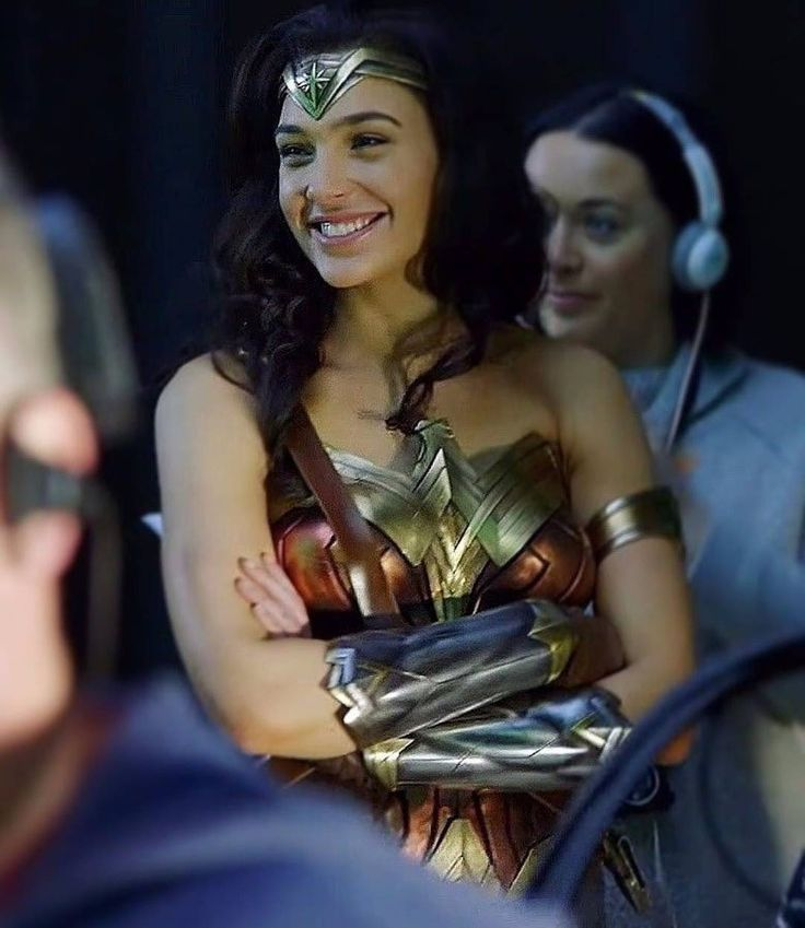 Gal Gadot on the set «Wonder Woman»