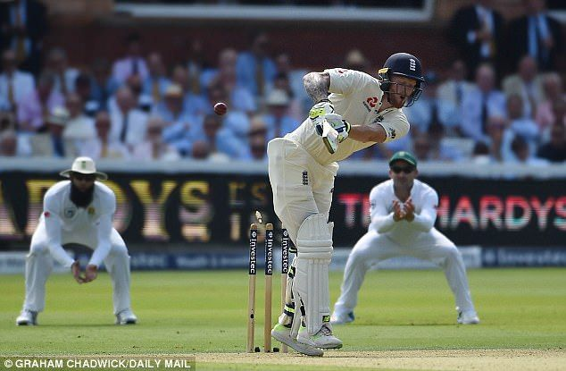 Ben Stokes survived a no ball which would have meant Morne Morkel dismissing him for 44