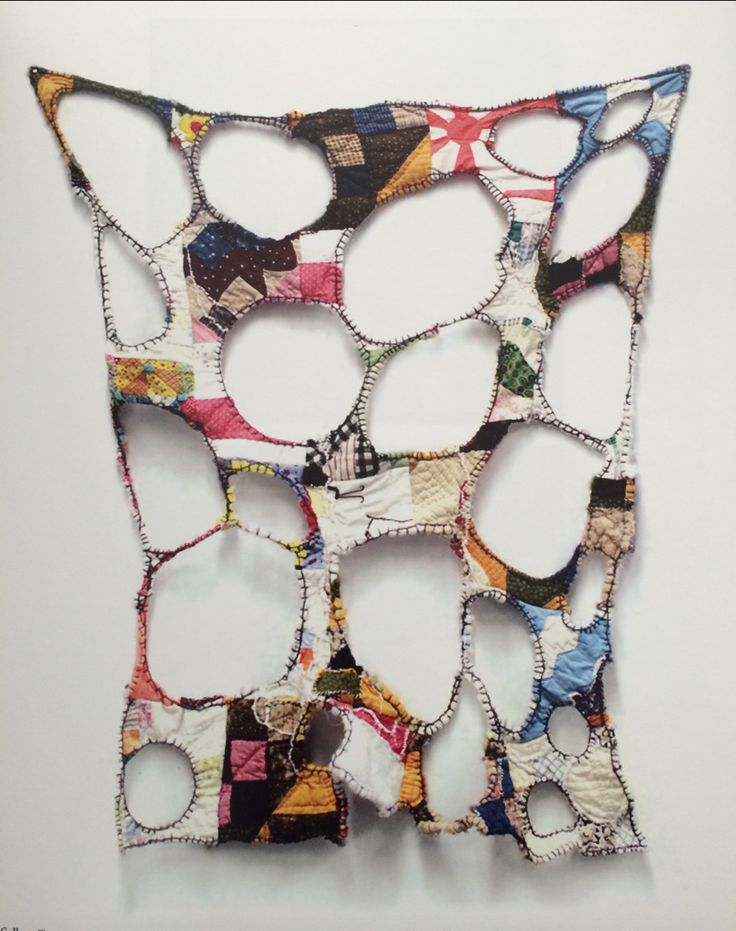 """disciplinethepainter: """"Colleen Toutant Deconstructed Mustered Up Quilts from Kentucky, 2011 Manipulated found quilts and silk embroidery thread From the book Institute 193 volume one"""""""