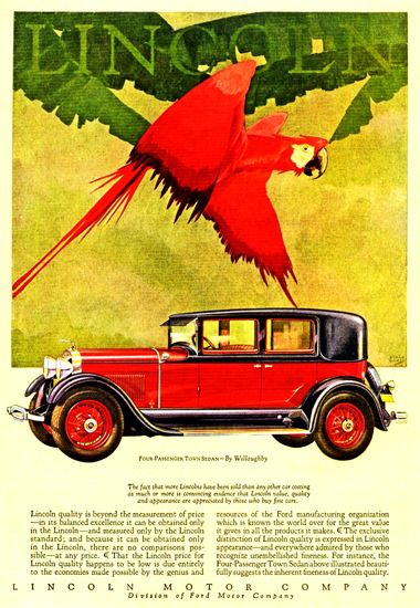 Lincoln Motor Company 1928 Willoughby - Mad Men Art: The 1891-1970 Vintage…
