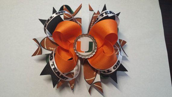 5 Miami Hurricanes Football Go Team Boutique by MagnoliaDelight