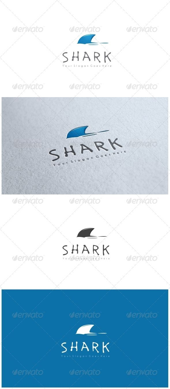 Shark  Logo Design Template Vector #logotype Download it here: http://graphicriver.net/item/shark-logo/8776267?s_rank=1759?ref=nexion