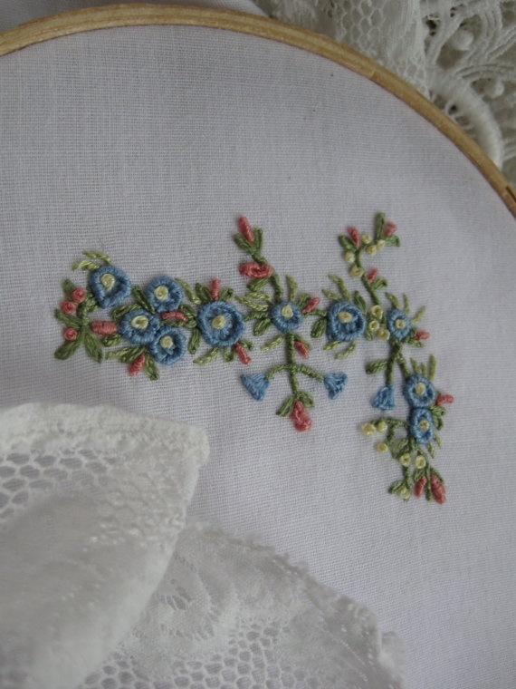 Hand embroidery monogram letter f 자수 pinterest