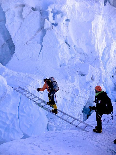 Everest expedition By Ejercito de Chile. I have been to the Base Camp. It was an exhilarating and difficult experience. Love these mountains...these giants! �