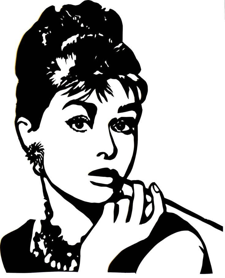 audrey hepburn black and white silhouette - Google Search ...