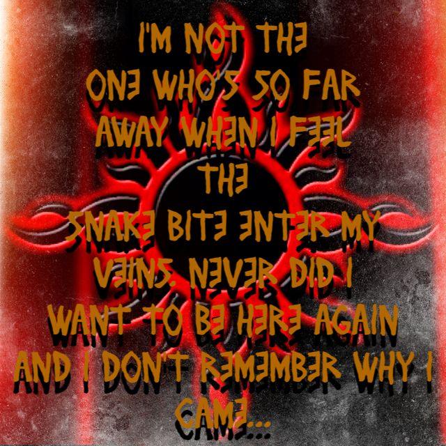 Godsmack - Voodoo lyrics, luv this song.