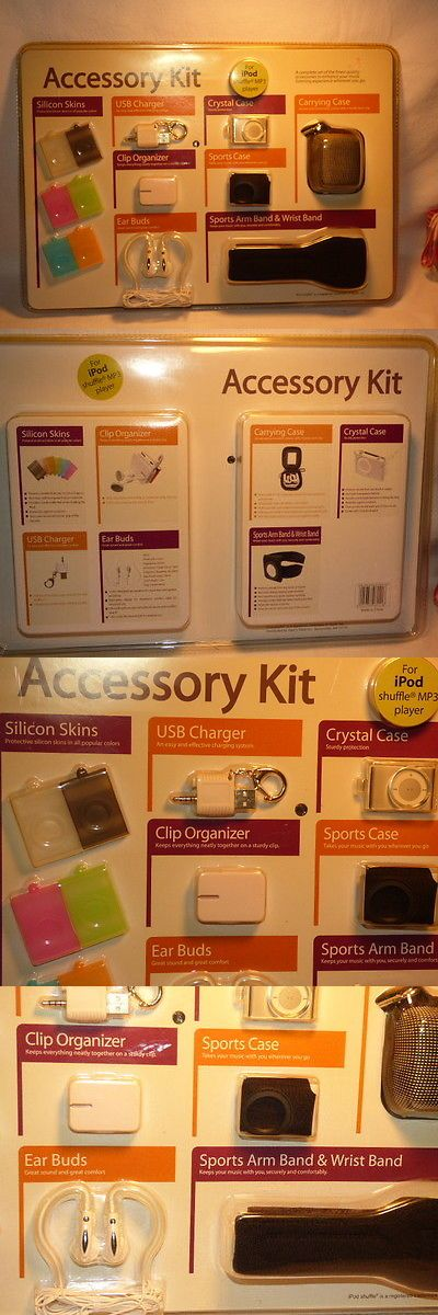 Other iPod and Audio Player Accs: Green Ipod Shuffle 4Th Generation Accessory Kit New Sealed! BUY IT NOW ONLY: $30.0