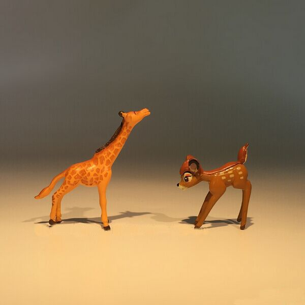Tiny Size Deer Giraffe Mini Ornament Dollhouse/Office/Home/Car Furnishing Articles