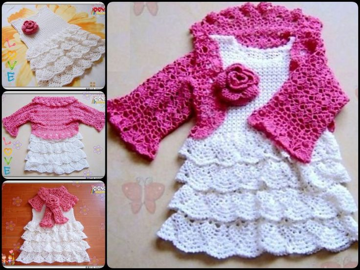 Dress, Capelet and Bolero for a Little Girl with free pattern