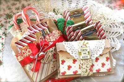 Brown paper sack gift bags