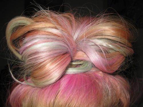.: Cut Style Color, Hairstyles, Hair Colors, Colorful Hair, Hair Styles, Hair Beauty, Pink, Bow, Happy Hair
