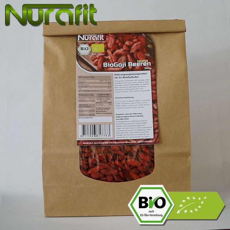 BIO Goji Beeren in biologisch abbaubaren Paperbags gibts bei Nurafit! #nurafit #goji #gojibeeren #smartsmoothies #gesund #healthy #fitness #berry