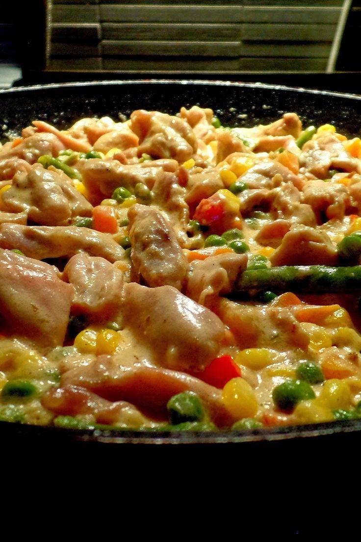 Csiperke blogja: Zöldséges csirkeragu