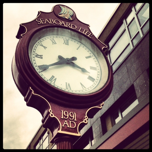 A few doors down from our office- the iconic #Kerrisdale Clock