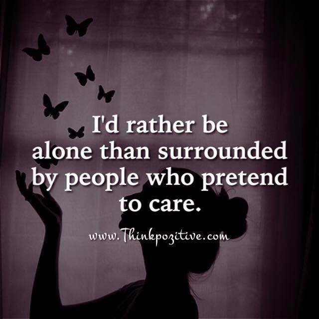 I'd Rather Be Alone