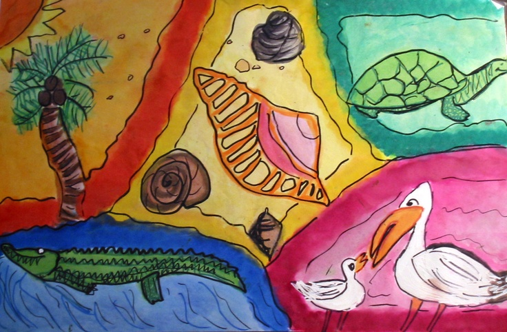 Artwork of Laurel Nokomis Middle School student Alyssa Grozier, 12, depicts the natural heritage of our Florida coastal community – the beaches, the creatures of the sea, and the flora and fauna of this beautiful sub-tropical place on the Gulf of Mexico. The Sister Cities artwork was displayed during the Hands of Heritage Fest at Robarts Arena in 2003