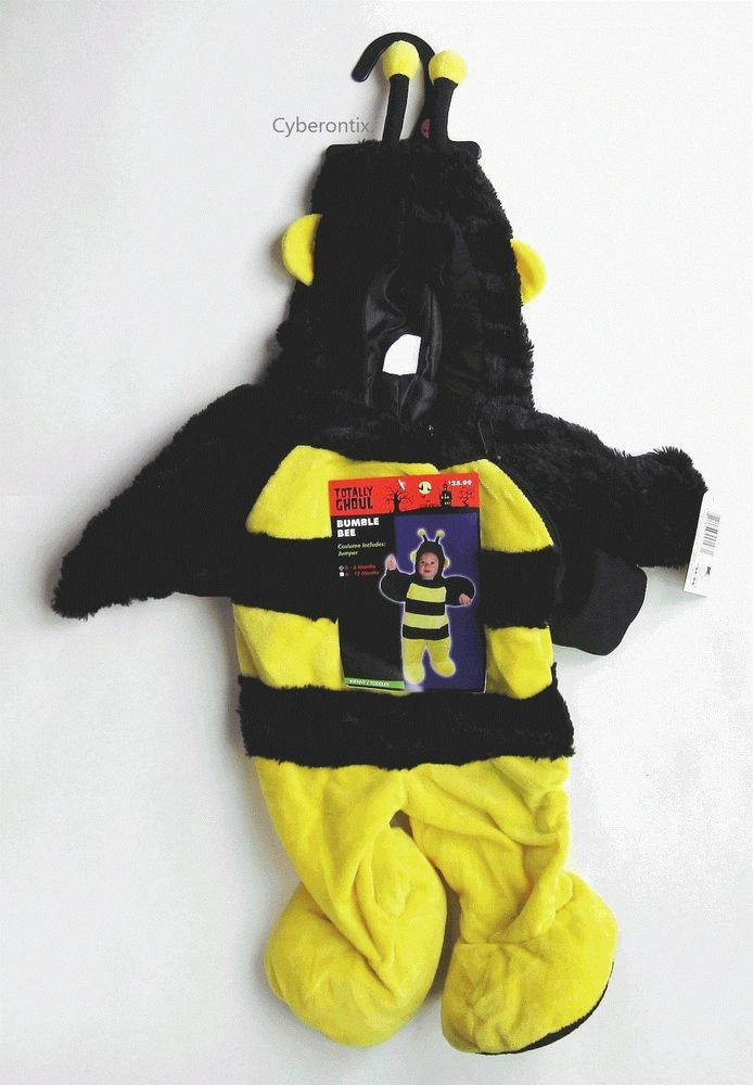 Bumblebee Halloween Costume Jumper Infant 0-6 Months NEW 1 Piece Totally Ghoul #TotallyGhoul #CompleteOutfit