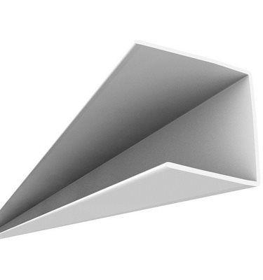 8-ft White PVC Ceiling Max Wall Bracket