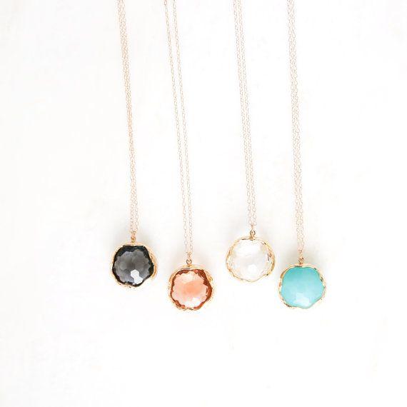 RADIANCE glass pendant necklace. long necklace. by DearMushka