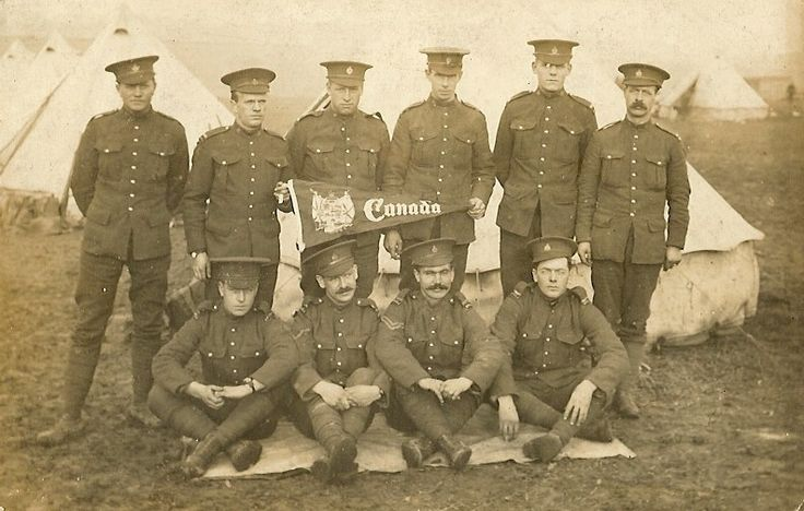 A group of PPCLI soldier in England at the onset of the war.