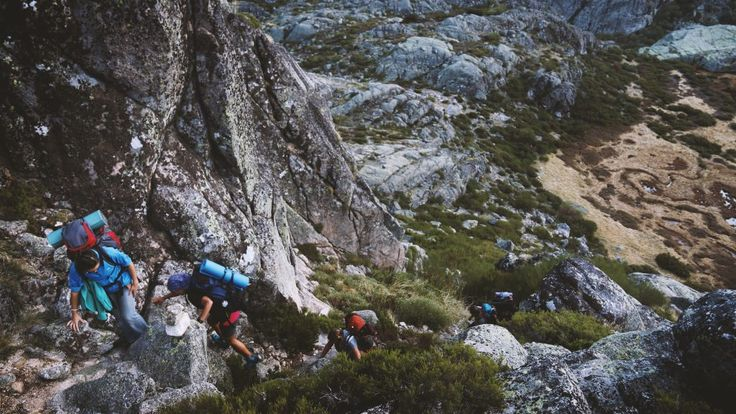 Download this free photo here www.picmelon.com #freestockphoto #freephoto #freebie // Group of People Climbing in the Mountains | picmelon