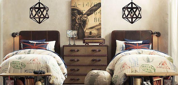 Habitaciones juveniles con estilo industrial - http://www.decoora.com/habitaciones-infantiles-estilo-industrial/