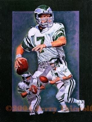 Ron Jaworski - Philadelphia Eagles QB by Jerry Thierolf Colored Pencil ~ 24 x 18