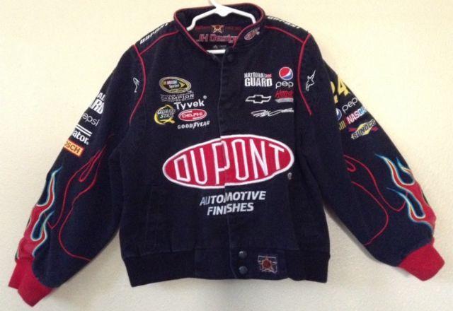Chase Authentic DuPont Jeff Gordon Youth NASCAR Racing Jacket Coat Small 5/6 Red | eBay