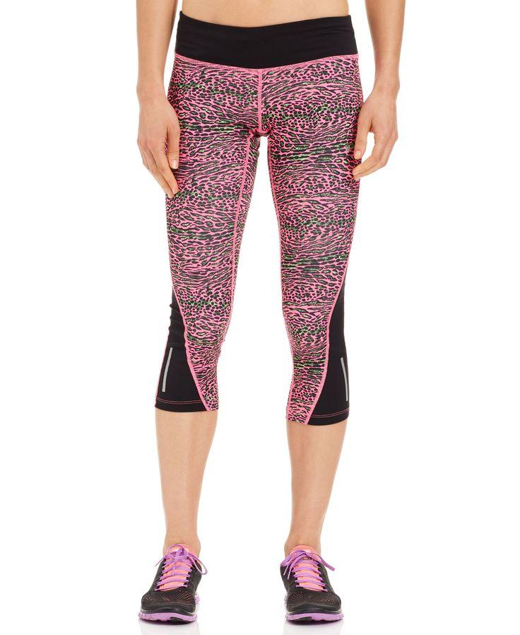 Nike Racer Drifit LeopardPrint Capri Leggings Products