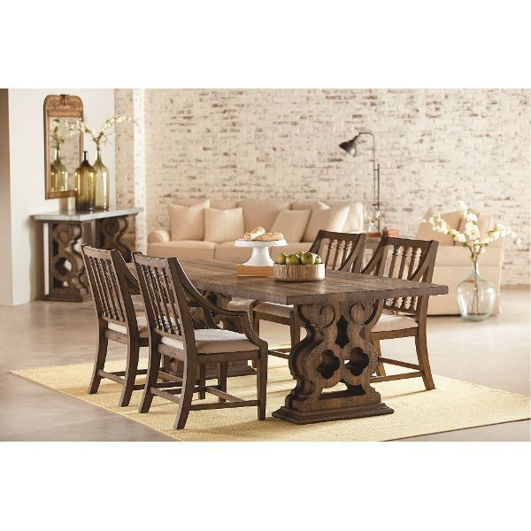 Magnolia Home Furniture 7 Piece Dining Set - Shop Floor Traditional Double  Pedestal Table and Revival Chairs
