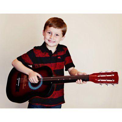 Schoenhut Red & Black Acoustic Guitar - 605RB
