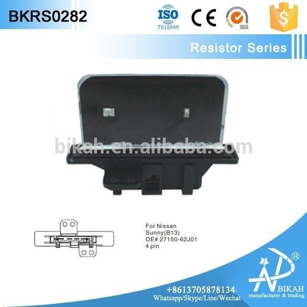 AC HEATER BLOWER MOTOR FAN RESISTOR FOR NISSA N 27150 62J01, 27150-62J01, 2715062J01 #B13, #Sunny