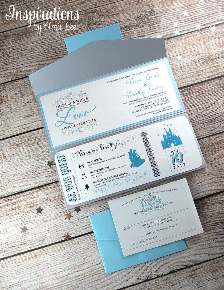 Disney Themed Wedding Invites Insprirations by Amielee weddinginvitation