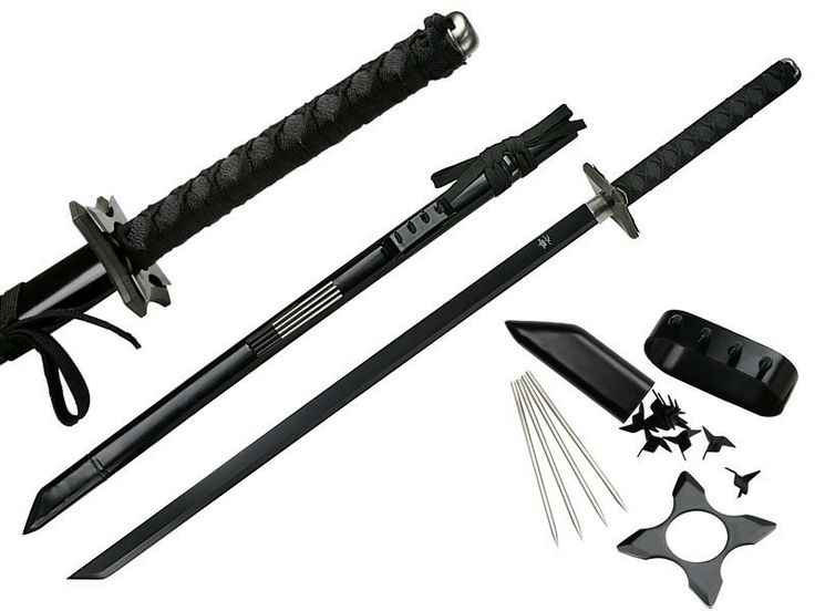 ScareFlair - Ninja Gear Black Ninja Sword, $49.99 (http://www.scareflair.com/ninja-gear-black-ninja-sword/)