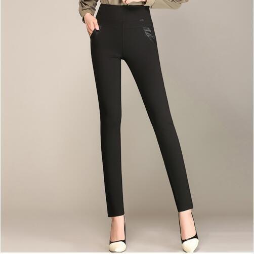 New 2017 Plus Size Women's Pencil Pants Capris Leggings Female Stretch High Waist Cotton Casual Pants Women Office Sexy Pants