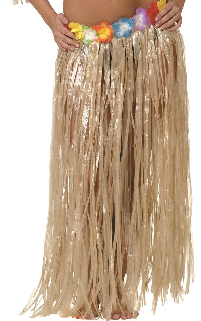 Falda larga 90x90 cm hawaiana para adulto | Comprar