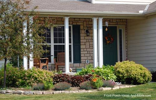 Lewis center ohio 500 320 landscaping ideas for Front porch landscaping plants