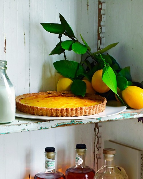 Rustic Meyer Lemon Tart - Martha Stewart Recipes. I'll do this when my ...