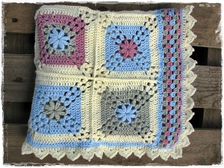 lovely crochet blanket 100% baby merino wool