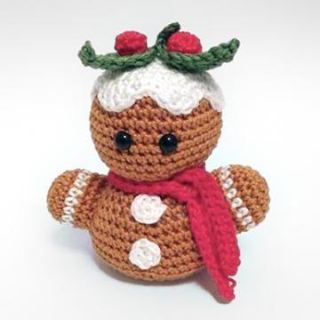 gingerbread man bust amigurumi crochet pattern